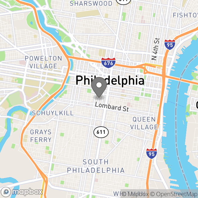 Map in Philadelphia, Pennsylvania for Hannah Guy therapy location.