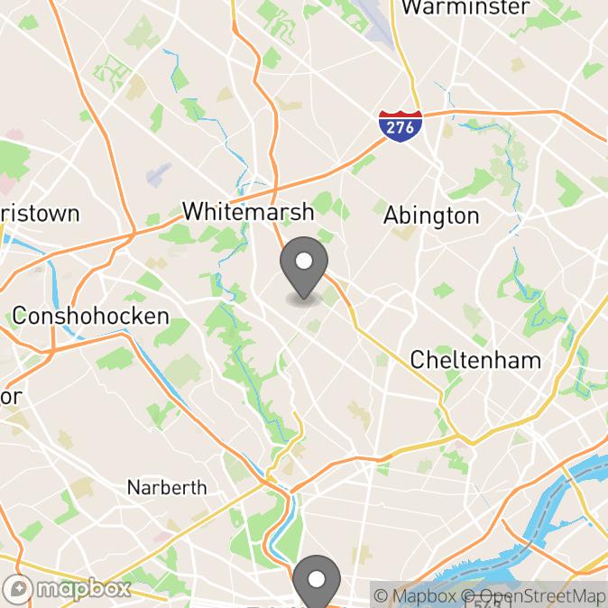 Map in Glenside, Pennsylvania for raffaella braga therapy location.