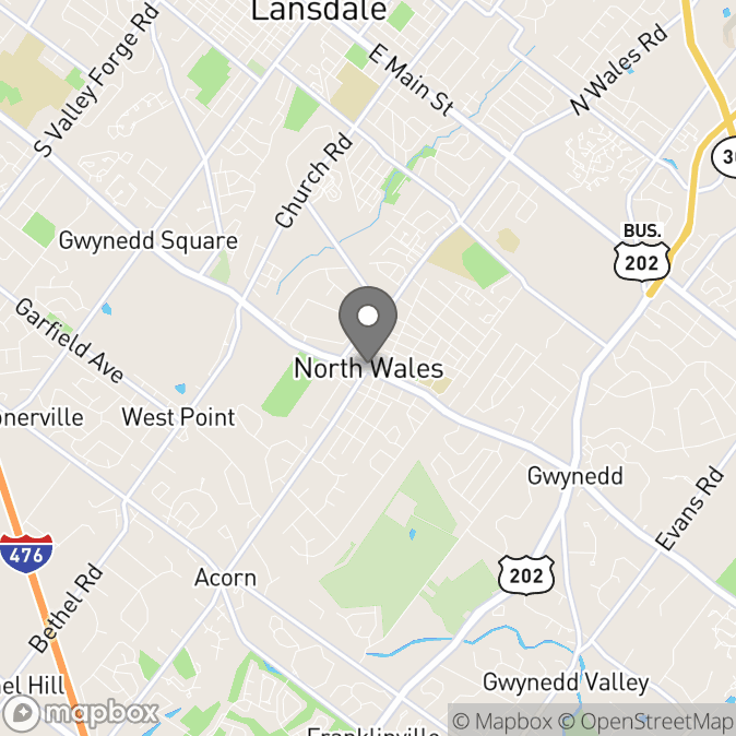 Map in North Wales, Pennsylvania for IRA BILOFSKY therapy location.