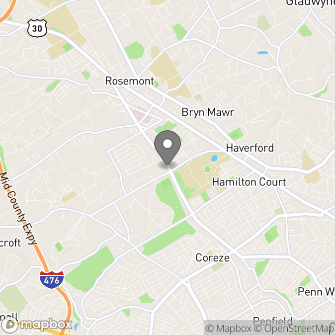 Map in Haverford, Pennsylvania for John Armando therapy location.