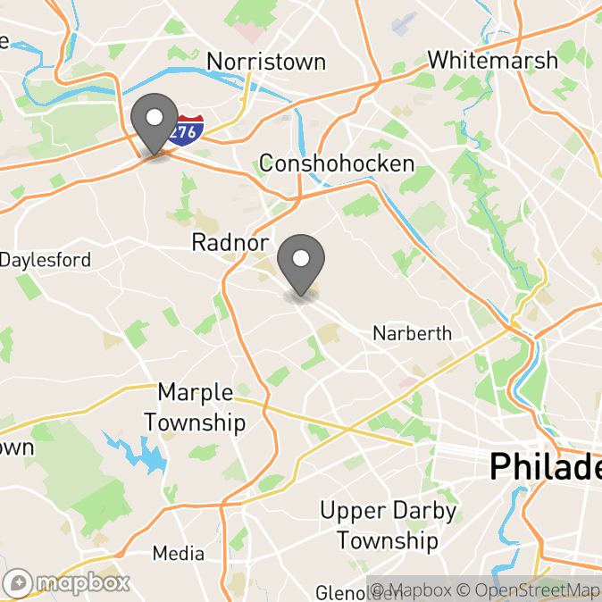 Map in King Of Prussia, Pennsylvania for Annie Wald therapy location.