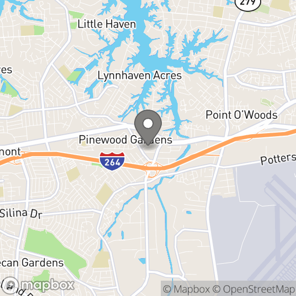 Map in Virginia Beach, Virginia for Rosa Avant therapy location.