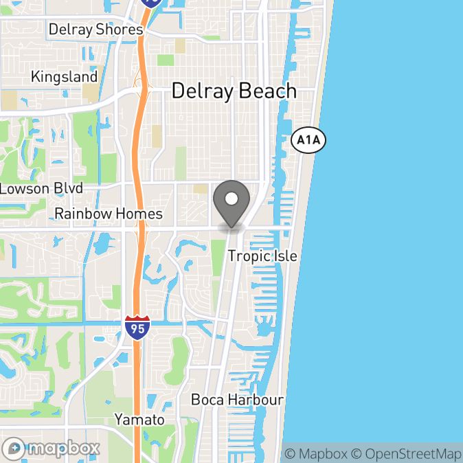 Map in Delray Beach, Florida for Travis S. Gray therapy location.