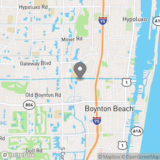 Map in Boynton Beach, Florida for Alyssa Koch therapy location.