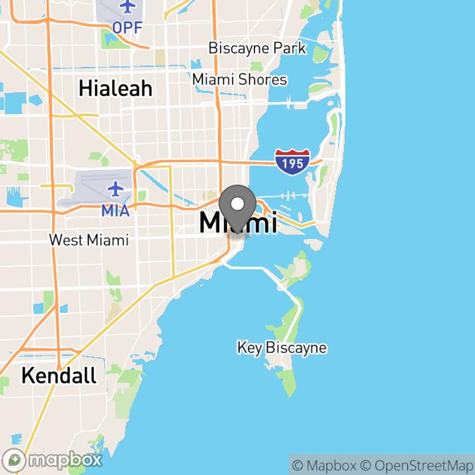 Map in Miami, Florida for Jessie Scott therapy location.