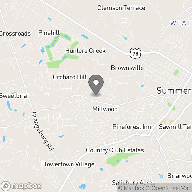 Map in Summerville, South Carolina for Xiomara Sosa therapy location.