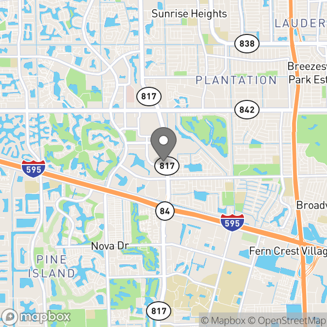 Map in Fort Lauderdale, Florida for Dawn Reilly therapy location.
