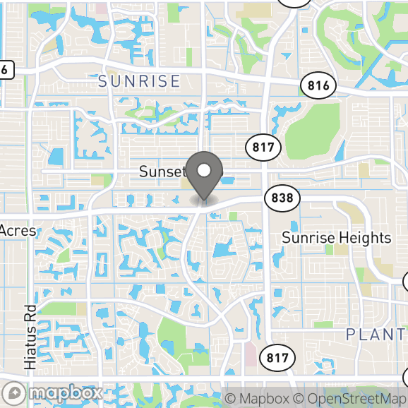 Map in Fort Lauderdale, Florida for Dr. Nicole Linardi therapy location.