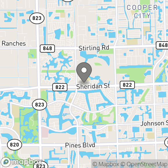 Map in Hollywood, Florida for Cassandra  Cacace therapy location.