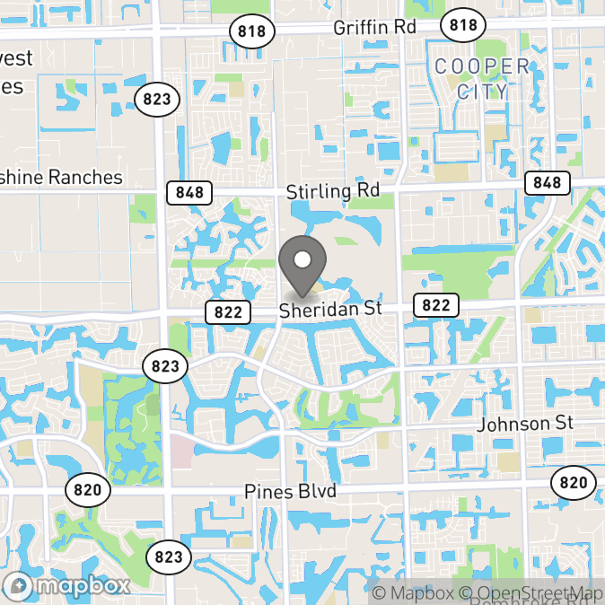 Map in Hollywood, Florida for Staci Schnell therapy location.