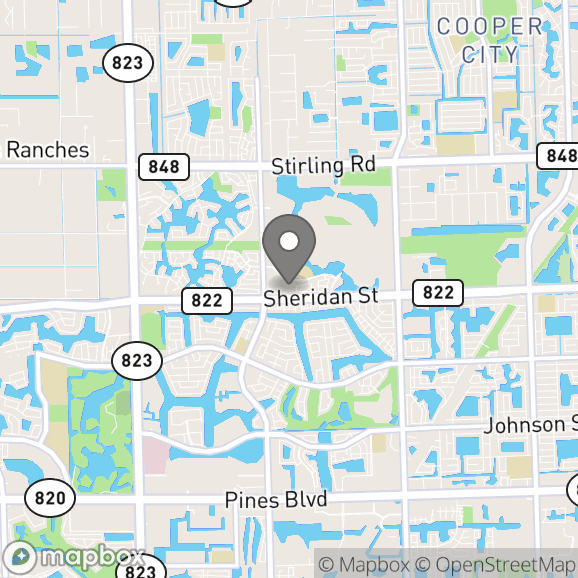 Map in Pompano Beach, Florida for Anna Schäfer Edwards therapy location.
