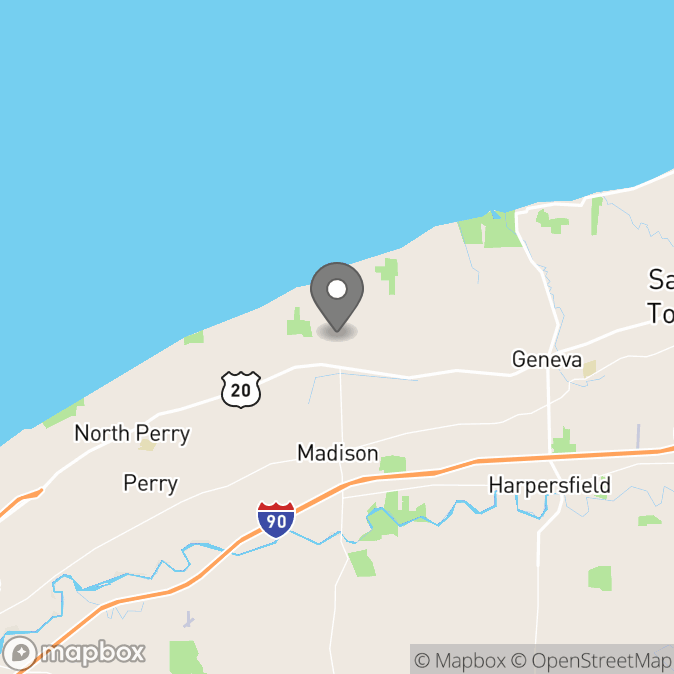 Map in Madison, Ohio for Carl Mathews Jr therapy location.
