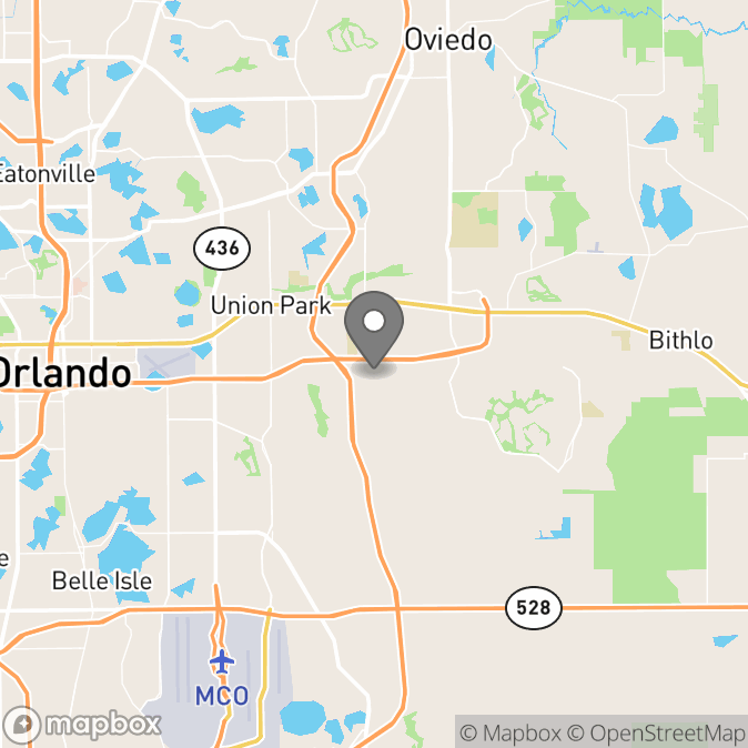 Map in Orlando, Florida for Dannelle Williams therapy location.