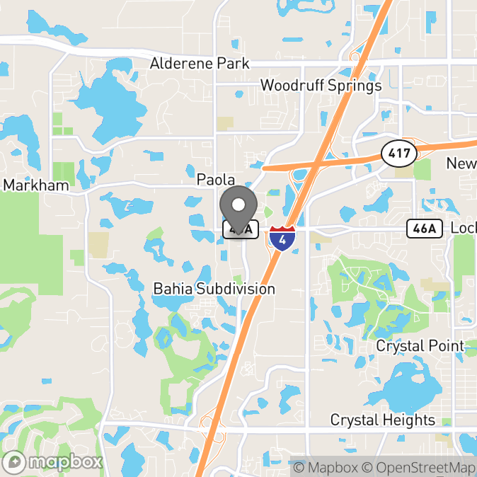 Map in Lake Mary, Florida for Jacqueline Heiny therapy location.