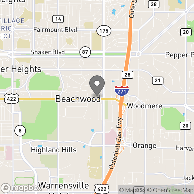 Map in Cleveland, Ohio for Carley Trillow therapy location.