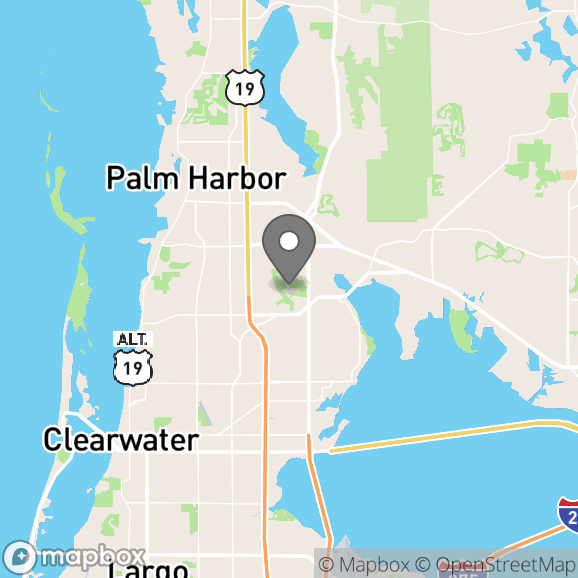 Map in Saint Petersburg, Florida for Kaitlyn Ramsey therapy location.