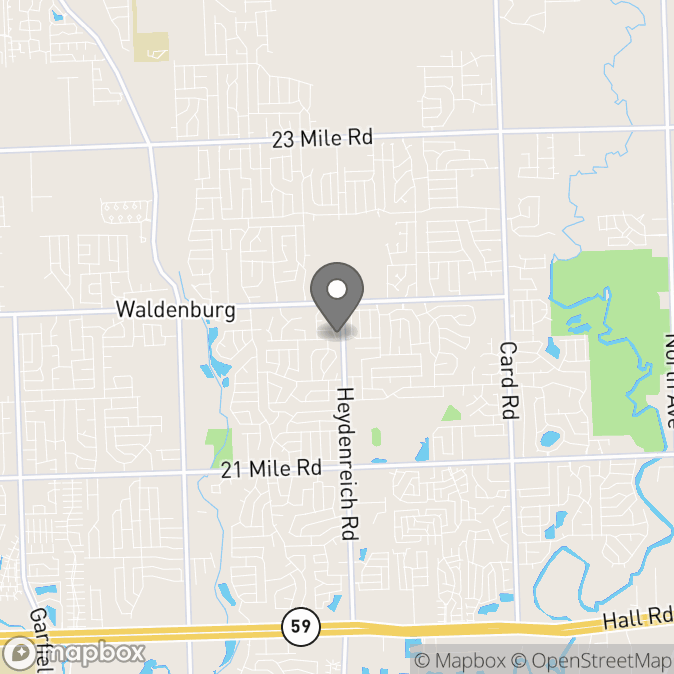 Map in Macomb, Michigan for Nicol Grishkevich therapy location.