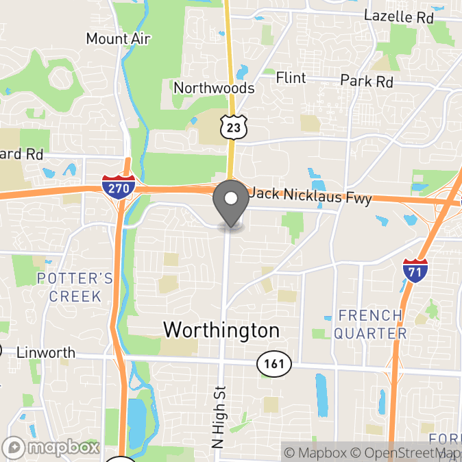 Map in Columbus, Ohio for Tyler  Hudson therapy location.
