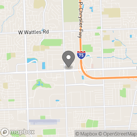 Map in Troy, Michigan for Jessica Bennett therapy location.