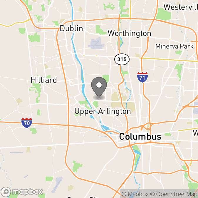 Map in Marysville, Ohio for Brianna Badenhop therapy location.