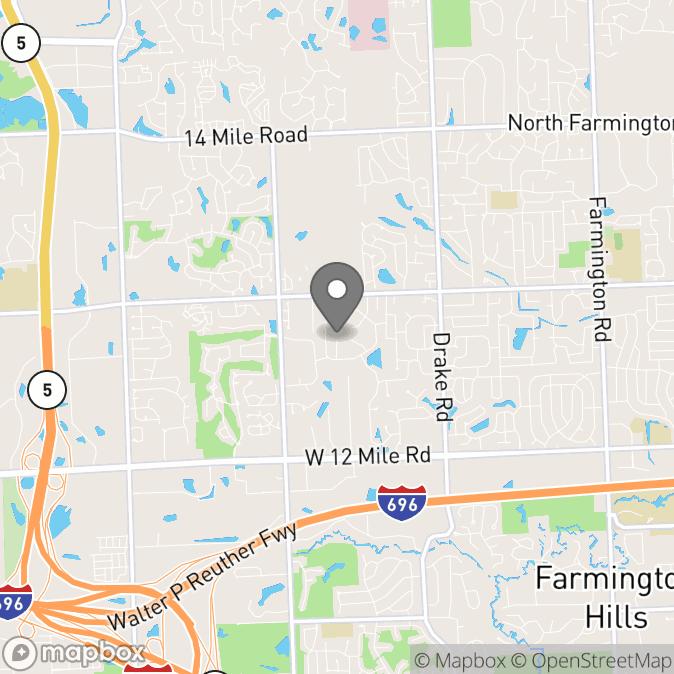 Map in Farmington, Michigan for Constance  Gwynn  therapy location.