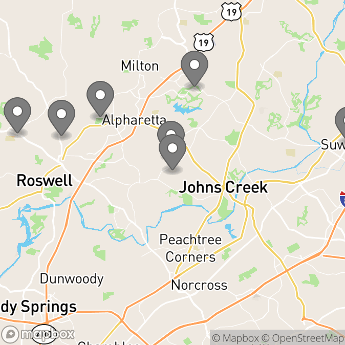Map in Suwanee, Georgia for Shally Vaid therapy location.