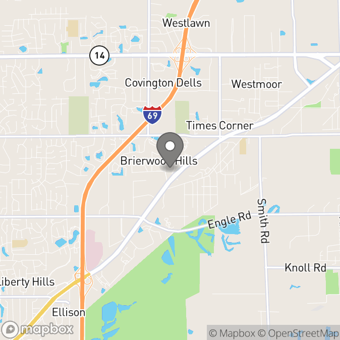 Map in Fort Wayne, Indiana for Stacy Lepley therapy location.