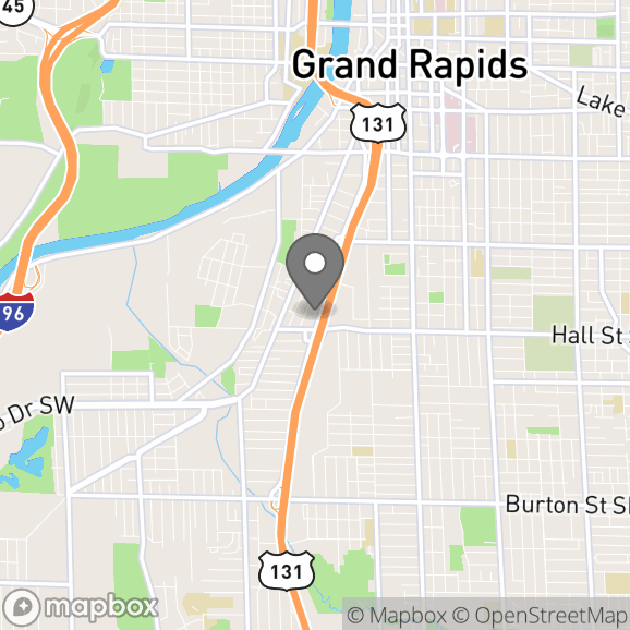 Map in Grand Rapids, Michigan for Kristy Burks therapy location.