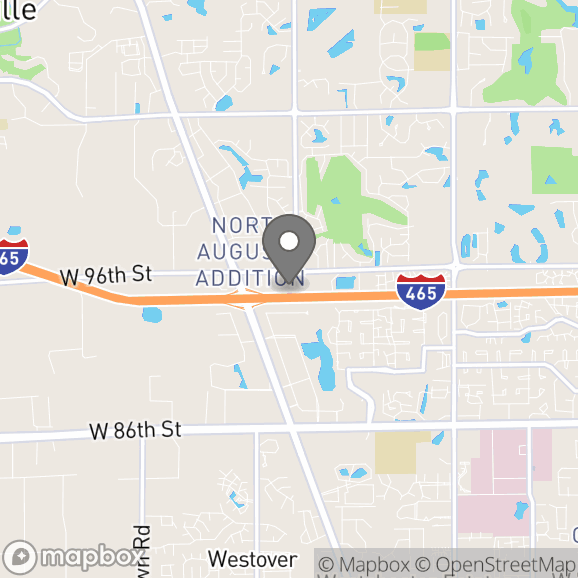 Map in Indianapolis, Indiana for Daniel  Eccles therapy location.