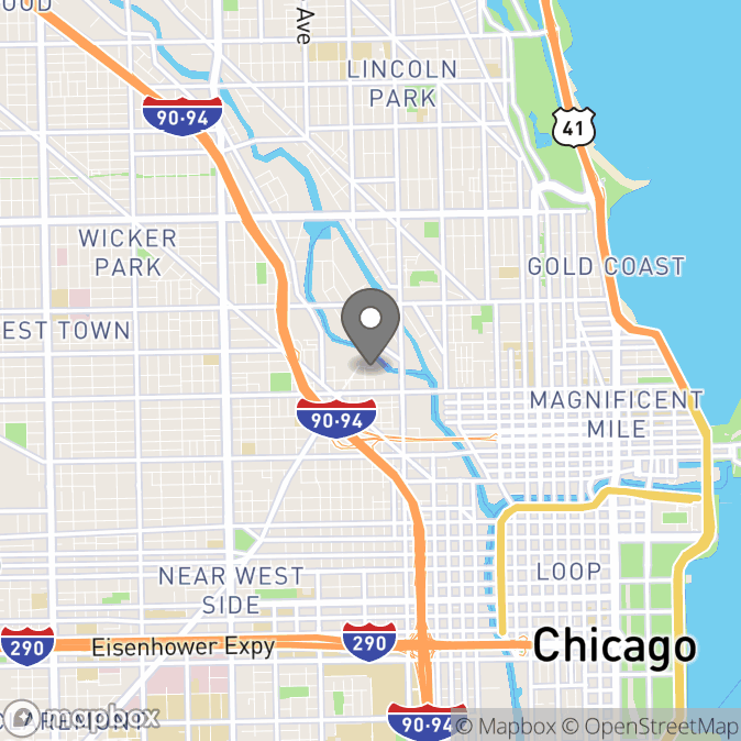 Map in Chicago, Illinois for Zetah  Young  therapy location.