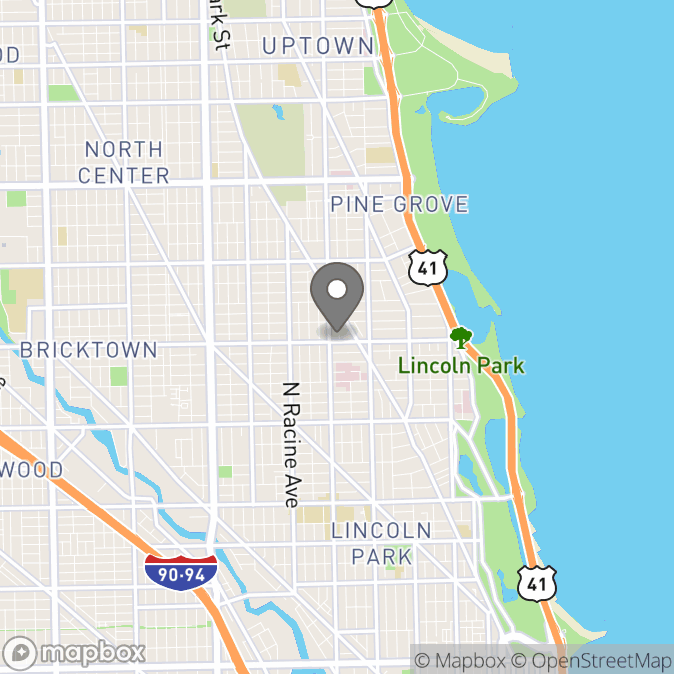 Map in Chicago, Illinois for Joseph Reed therapy location.