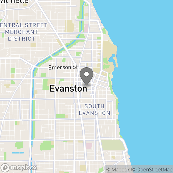 Map in Evanston, Illinois for Michelle Lester therapy location.