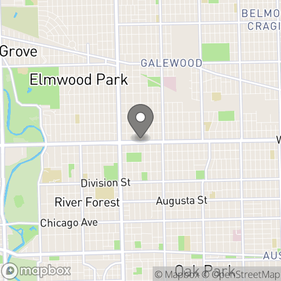 Map in Elmwood Park, Illinois for Eleni  Marsh therapy location.