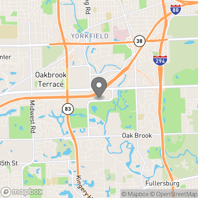 Map in Oak Brook, Illinois for Jeffery  Siddall therapy location.