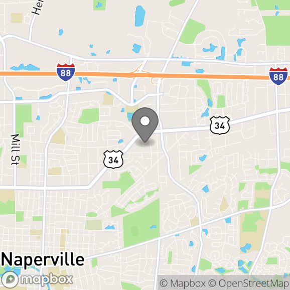 Map in Naperville, Illinois for Elizabeth Anderson therapy location.