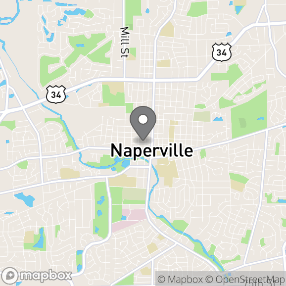 Map in Naperville, Illinois for Bethany Henrichs therapy location.