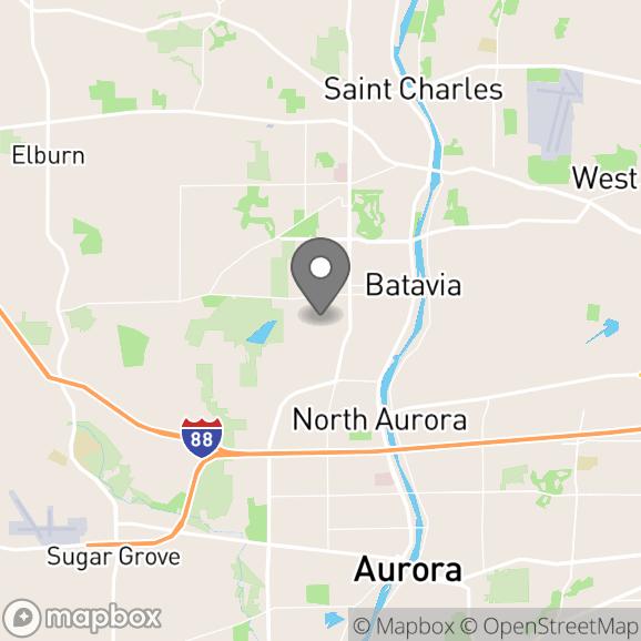Map in Batavia, Illinois for Aubrey Koel therapy location.