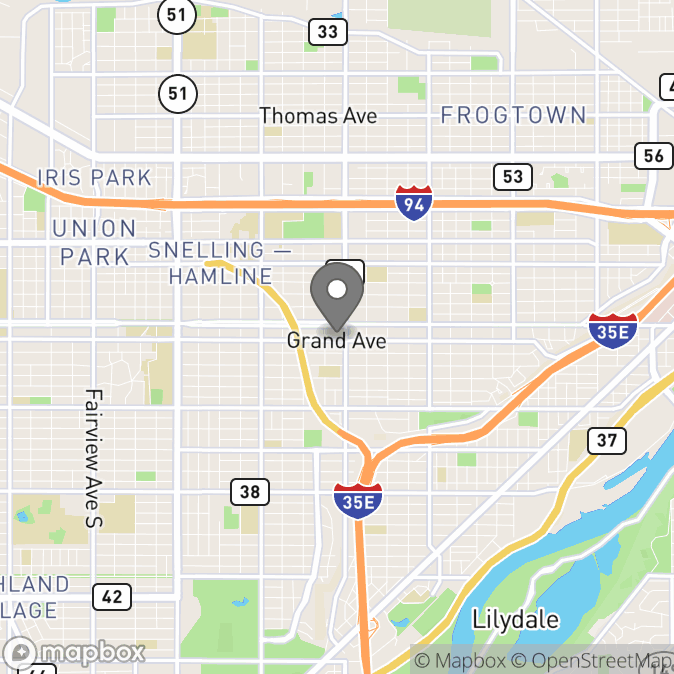 Map in Saint Paul, Minnesota for Kelly Haase therapy location.
