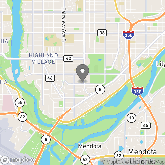 Map in Saint Paul, Minnesota for Kate Hanten therapy location.