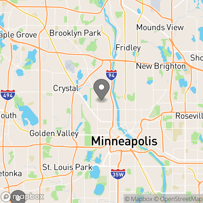 Map in Minneapolis, Minnesota for Eric Strom therapy location.