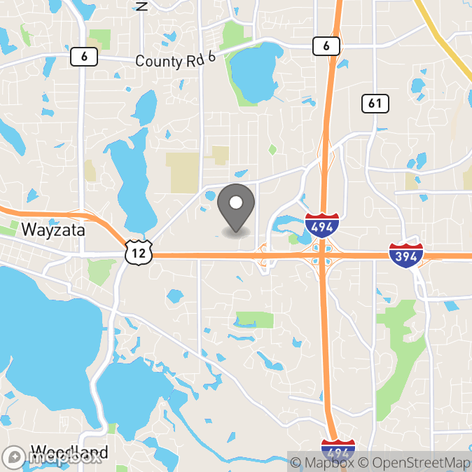 Map in Wayzata, Minnesota for Valerie Marsh therapy location.