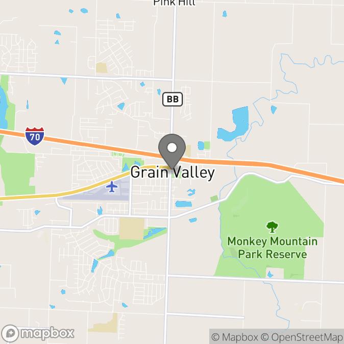 Map in Grain Valley, Missouri for Janelle DeBlock therapy location.
