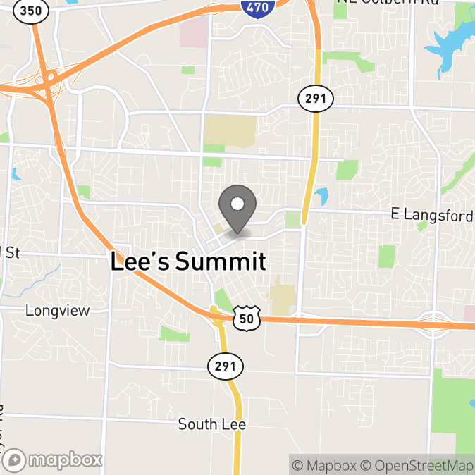 Map in Lees Summit, Missouri for Ivy Pellerito therapy location.