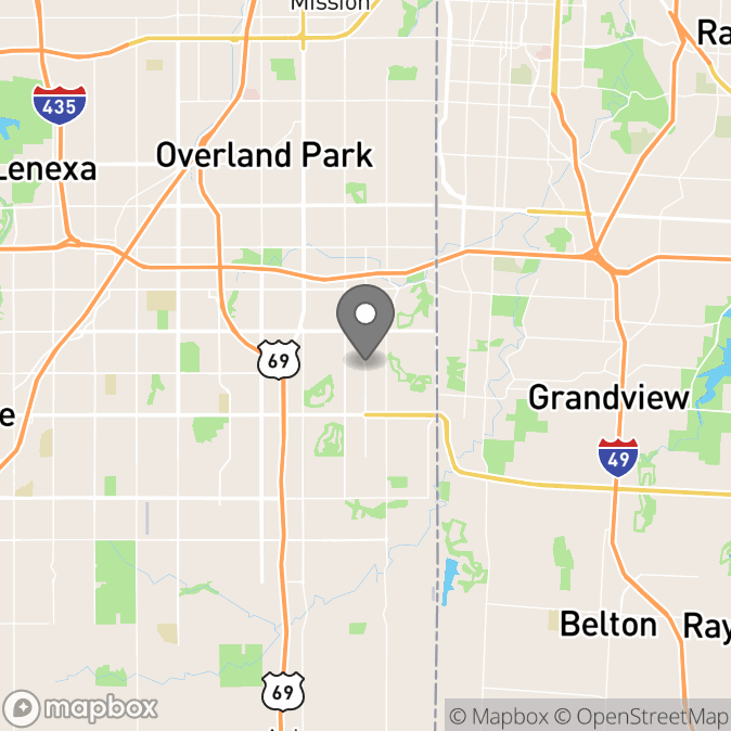 Map in Shawnee Mission, Kansas for Shannon Conover therapy location.