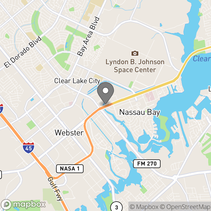 Map in Houston, Texas for Sandra Clamon therapy location.