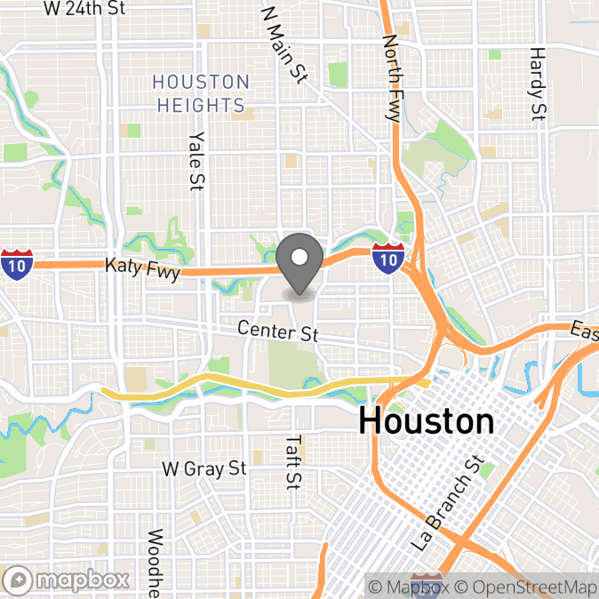 Map in Houston, Texas for Brittany Barnes therapy location.