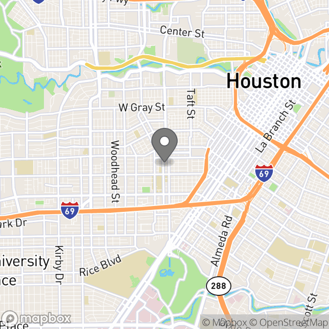 Map in Houston, Texas for Veronica Siffert therapy location.