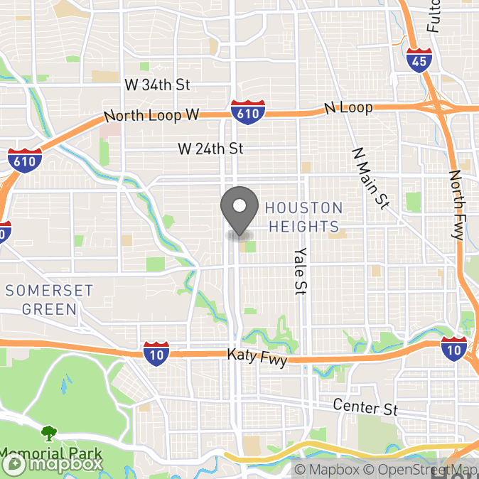 Map in Houston, Texas for Yasman Karimi therapy location.