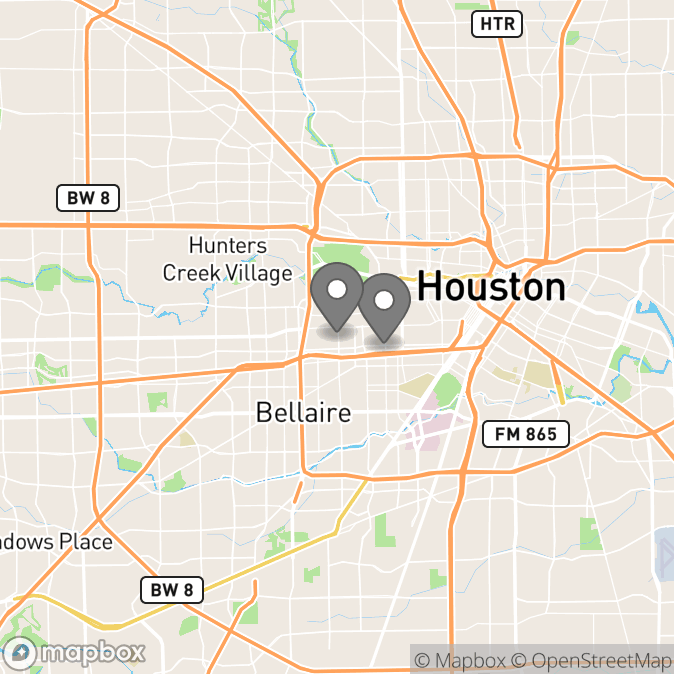 Map in Houston, Texas for Monalisa Bryant therapy location.