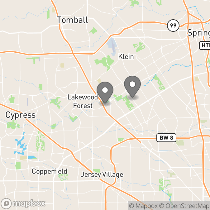 Map in Houston, Texas for Kat Nazaroff therapy location.